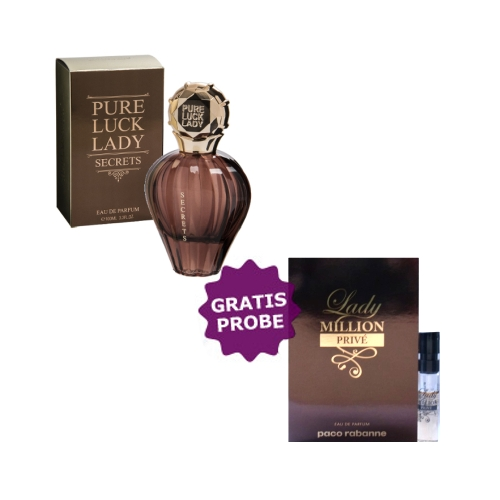Linn Young Pure Luck Lady Secrets 100 ml + Probe Paco Rabanne Lady Million Prive